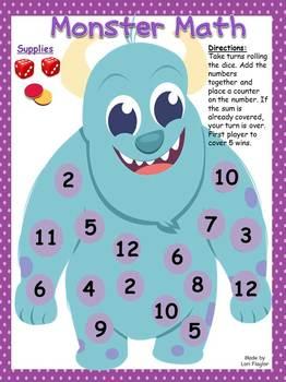 Monster Math Addition Game