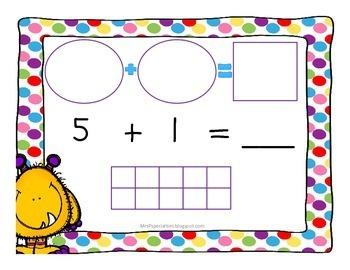Monster Math: Addition Mats
