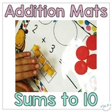 Distance Learning Addition Mats For Hands On Math Centers
