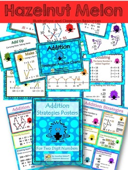 Monster Math Addition Posters and Anchor Charts for Number Talks