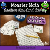 Monster Math Addition Task Card Activity