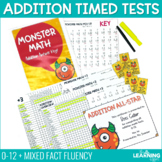 Fact Fluency Addition Timed Tests