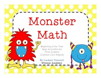 Monster Math (Addition and Problem Solving with Common Core)