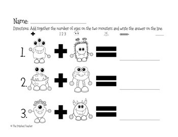 Monster Math Addition and Subtraction Edition