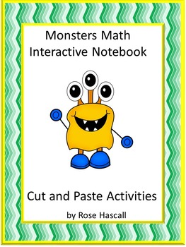 Monsters Interactive Cut and Paste Printable Math Notebook