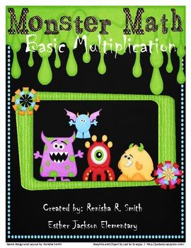 Monster Math: Basic Multiplication Game