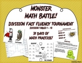 Monster Math Battle! - Division tables 1-12 - fact fluency