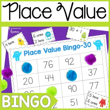 Monster Themed Place Value Bingo