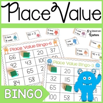 Place Value Bingo Monster Theme