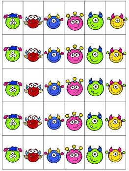 Monster Math Center Numbers 1-5