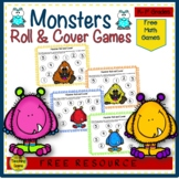 Monster Roll & Cover Math Center {FREE}