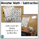 Monster Math Center: Subtraction and Number Line Practice