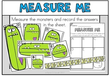 Monster Math Centers 1st Grade