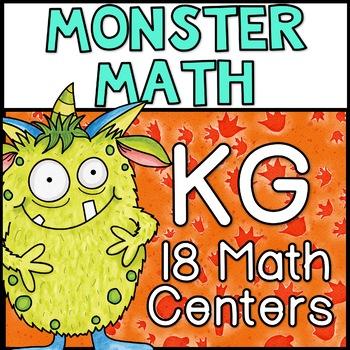 Monster Math Centers Kindergarten