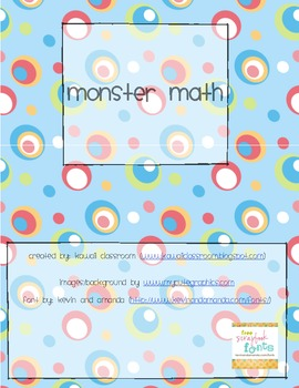 Monster Math Centers Pack