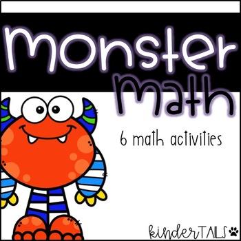Monster Math Centers for Kindergarten