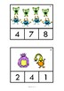 Monster Math Count and Clip Cards