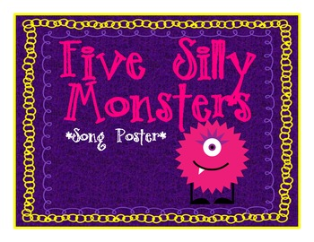 Monster Math Counting Poster