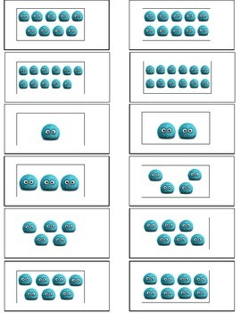Monster Math Counting To 20 Sliders {Kindergarten and Special Education)