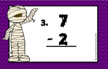 Monster Math- Differentiated Subtraction Math Scoot