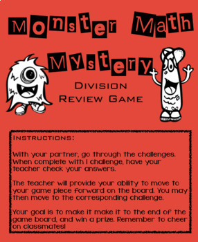 Monster Math Division Review Game