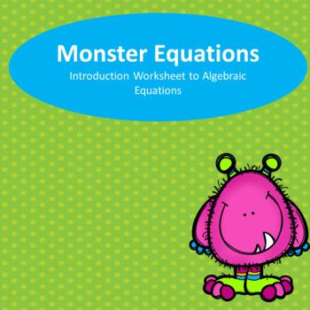Monster Math Equations