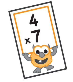 Monster Math Flash Cards - Multiplication