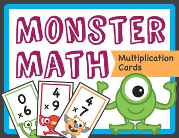 Monster Math Flash Cards - Multiplication