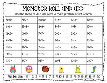 Monster Math Freebie