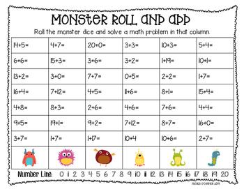 Monster Math Freebie