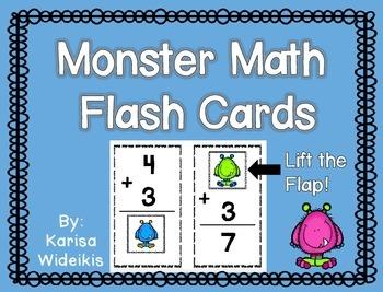 Monster Math Fun Flash Cards