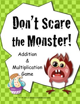 Monster Math Game for Math Centers Addition, Multiplication Halloween & All Year
