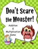 Monster Math Game for Math Centers Addition, Multiplicatio