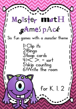 Monster Math Games BUNDLE