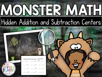 Monster Math: Halloween Hidden Addition and Subtraction Pi