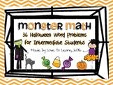 Monster Math - Halloween Word Problems