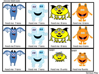 Monster Math II Regrouping Game