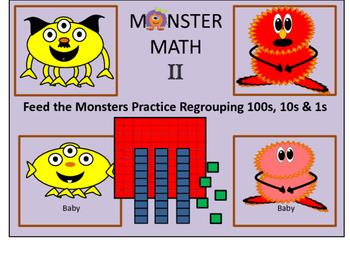Monster Math II Regrouping Game