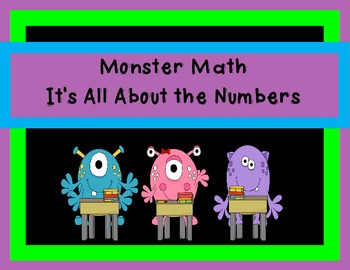 Number Sense -Monster Math - It's All About Numbers