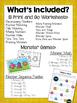 Monster Math Kindergarten Math Worksheets