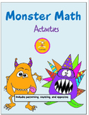 Monster Math Learning Center Activities