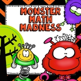 Monster Math Madness - Math Centers for Kinder