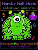 Monster Math Mania Addition And Subtraction