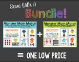 Monster Math Match BUNDLE 0-20: Count, # Words, Ten Frames, Tally Marks, Adding
