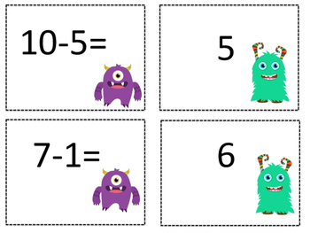 Monster Math Matching
