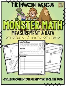 Monster Math!  Measurement & Data: Represent and Interpret Data, Graphing