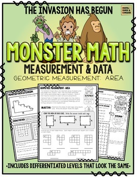 Monster Math!  Measurement & Data: Area
