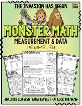 Monster Math!  Measurement & Data: Perimeter