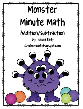 Monster Math *Minute Math*