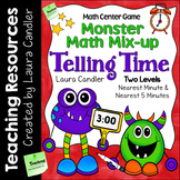 Telling Time Task Cards and Game - Monster Math Mix Up